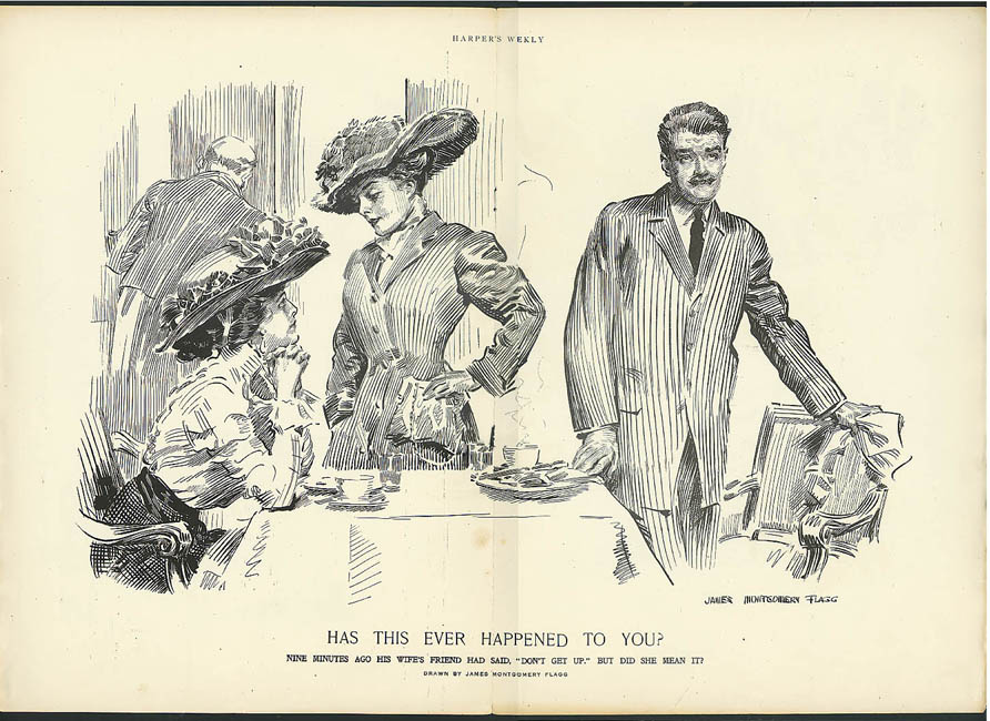 James Montgomery Flagg Harper's illustration: Ever Happened to You? ca 1907