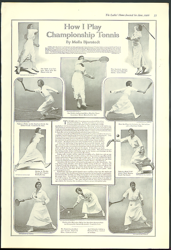 How I Play Championship Tennis by Molla Bjurstedt magazine page 1916