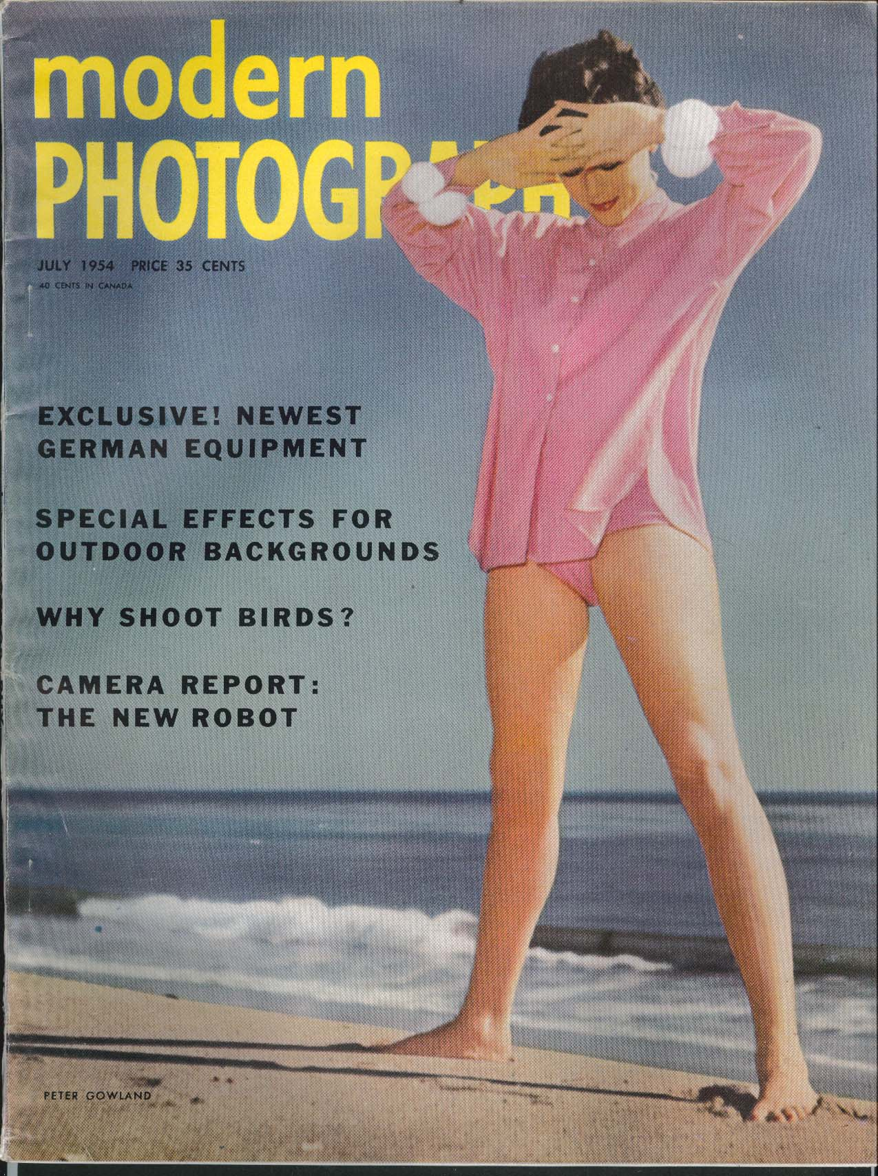 MODERN PHOTOGRAPHY Rollie McKenna outdoor glamour Gowland cover 7 1954
