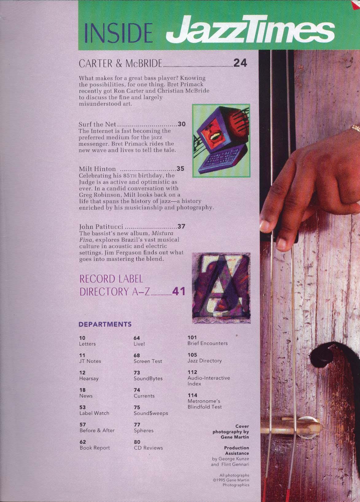 JAZZTIMES Ron Carter Christian McBride Montroux Jazz Festival 4 1995