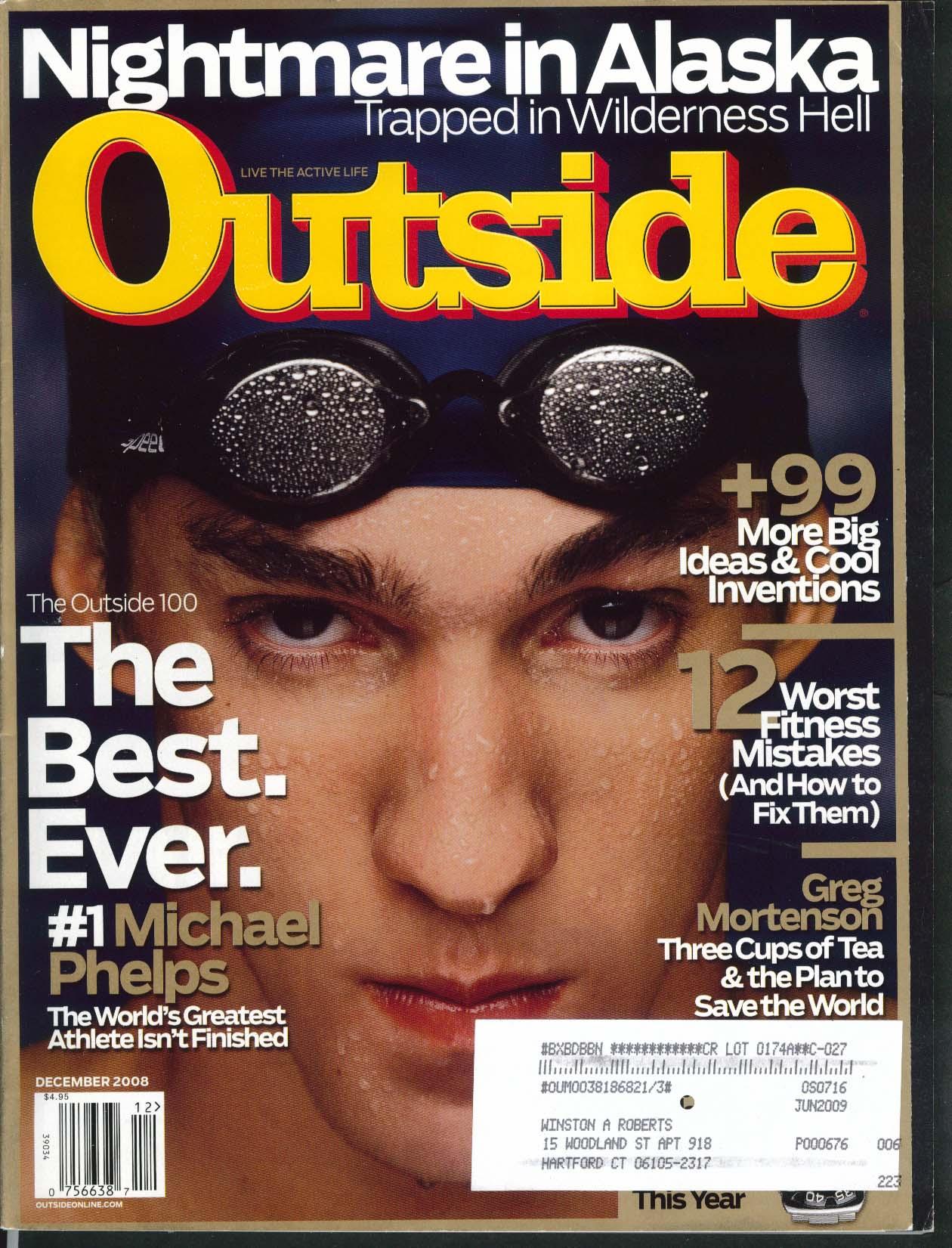 OUTSIDE Michael Phelps Greg Mortenson Tommy Caldwell McCarthy Pilgrim 12 2008