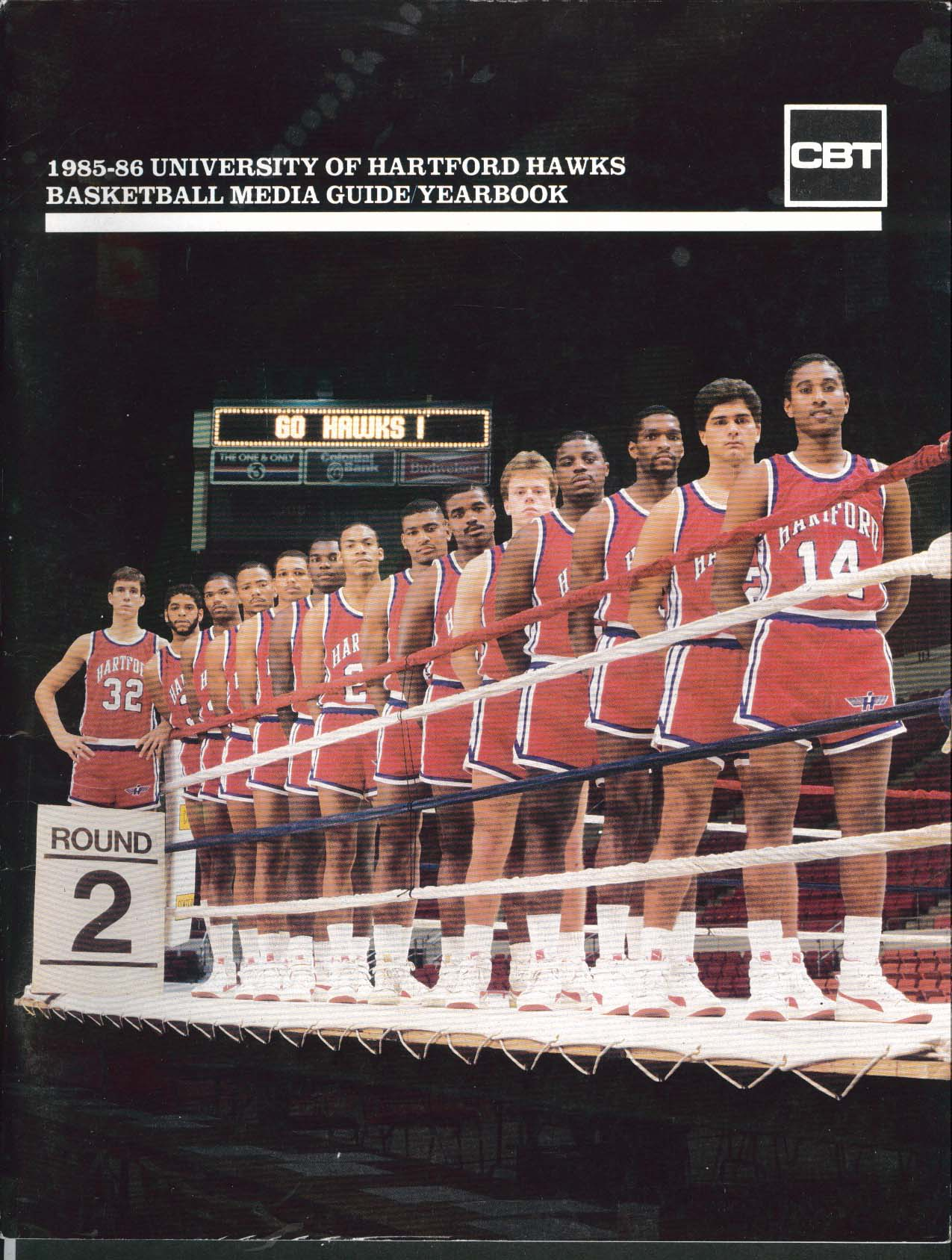 Image for University of Hartford Hawks Basketball Media Guide Yearbook 1985 1986