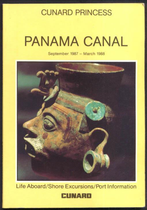 Cunard Line R M S Cunard Princess Panama Canal Guide 9/1987-3/1988