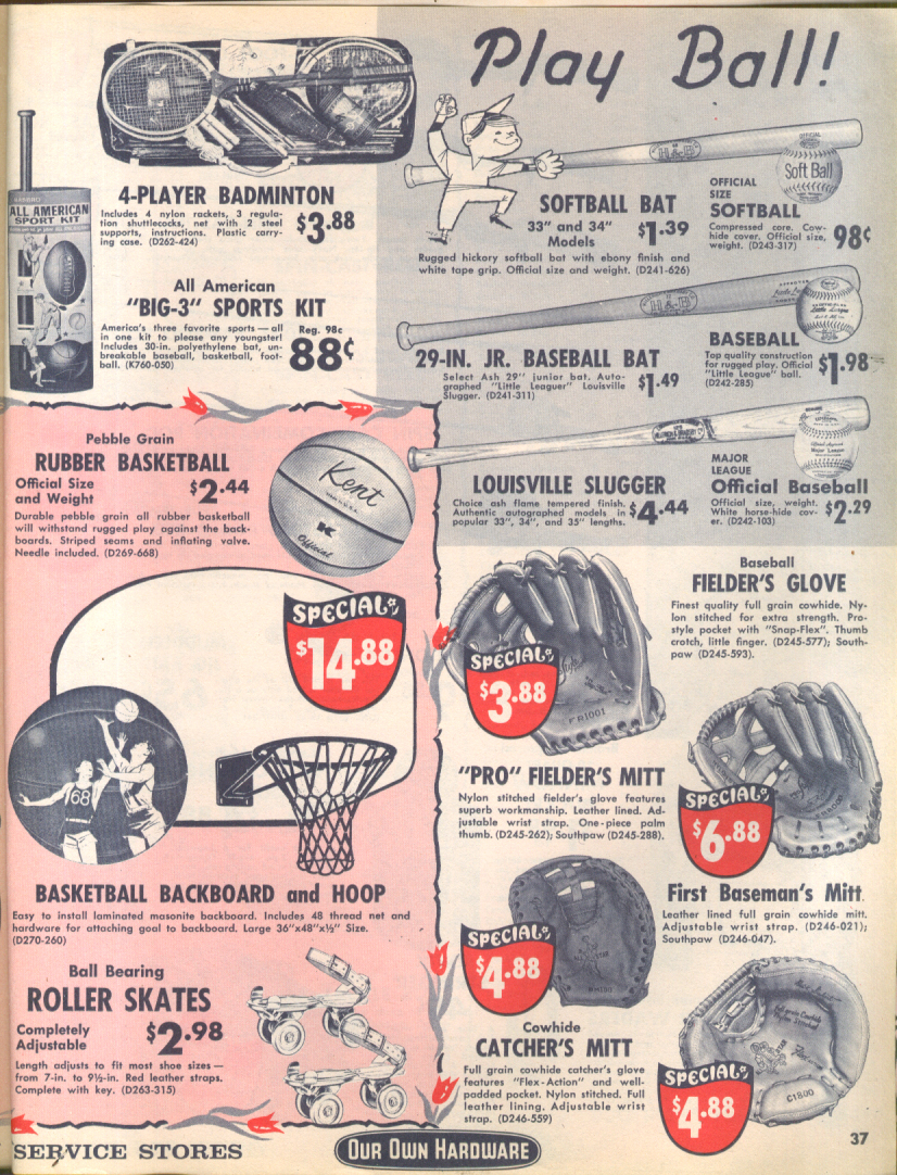 Our Own Hardware Spring Shopper circular 1965 AMF bicycles sporting goods +++