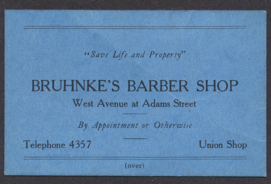 Fire Prevention Week Dance Local 127 La Crosse WI ticket 1947 Bruhnke's Barber