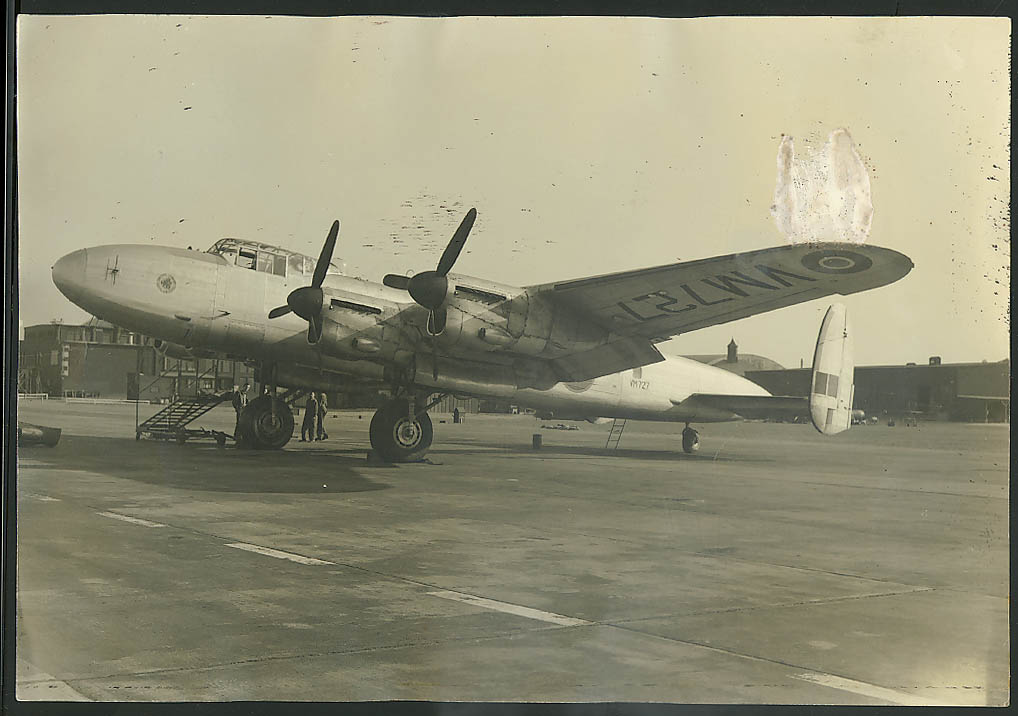 "Avro Lancaster PR 1 VM727 reconnaissance variant 10 1/2 x 15 1/4"" photo"