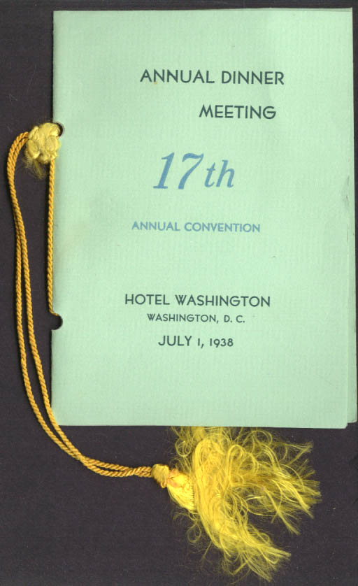 National Graphic Arts Education Guild 17th Convention Washington DC program 1938