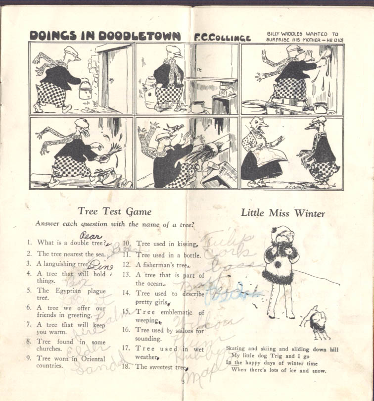Penn Traffic Department Store Juvenile Magazine 2 1925 Valentine kids