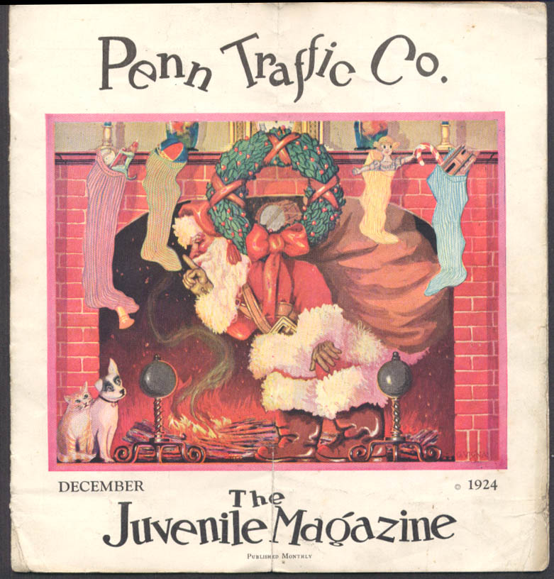 Penn Traffic Department Store Juvenile Magazine 12 1924 Santa Claus by G Vigna