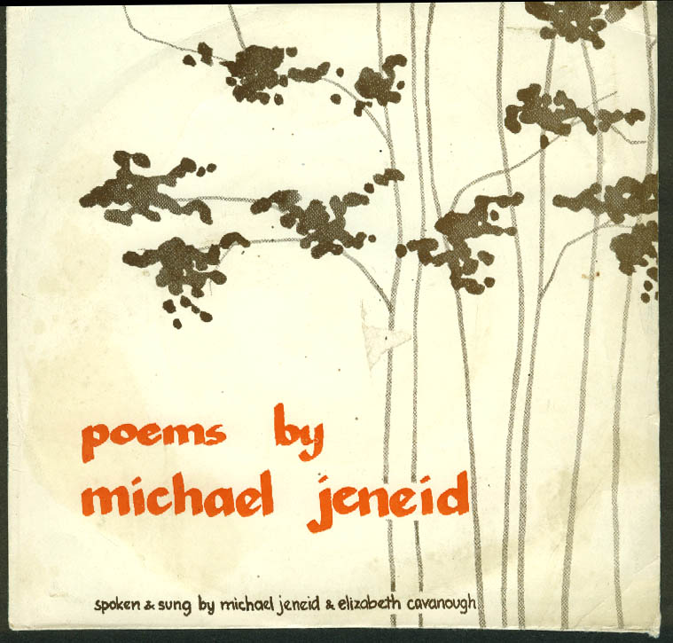 Poems by Michael Jeneid Spoken & Sung Elizabeth Cavanough 45rpm record 1965