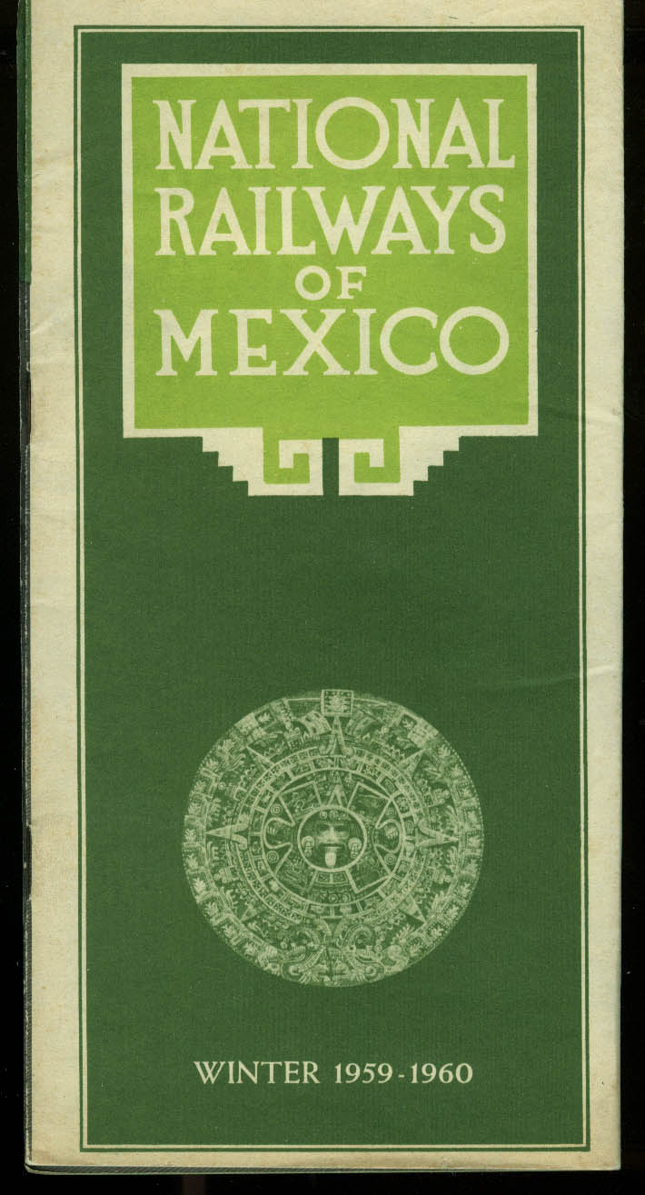 National Railways of Mexico Time Tables Winter 1959-1960