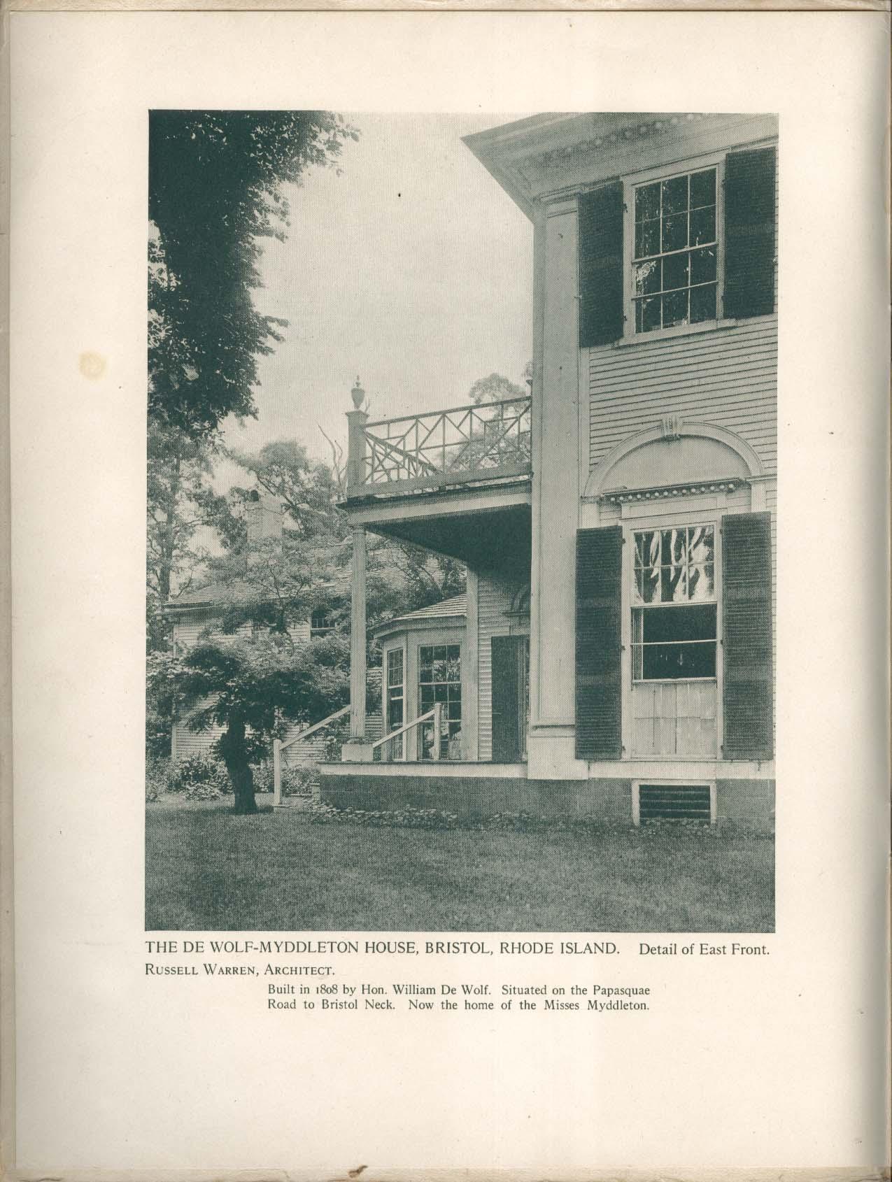 White Pine Architectural Monograph V3n5 Bristol Renaissance 1917