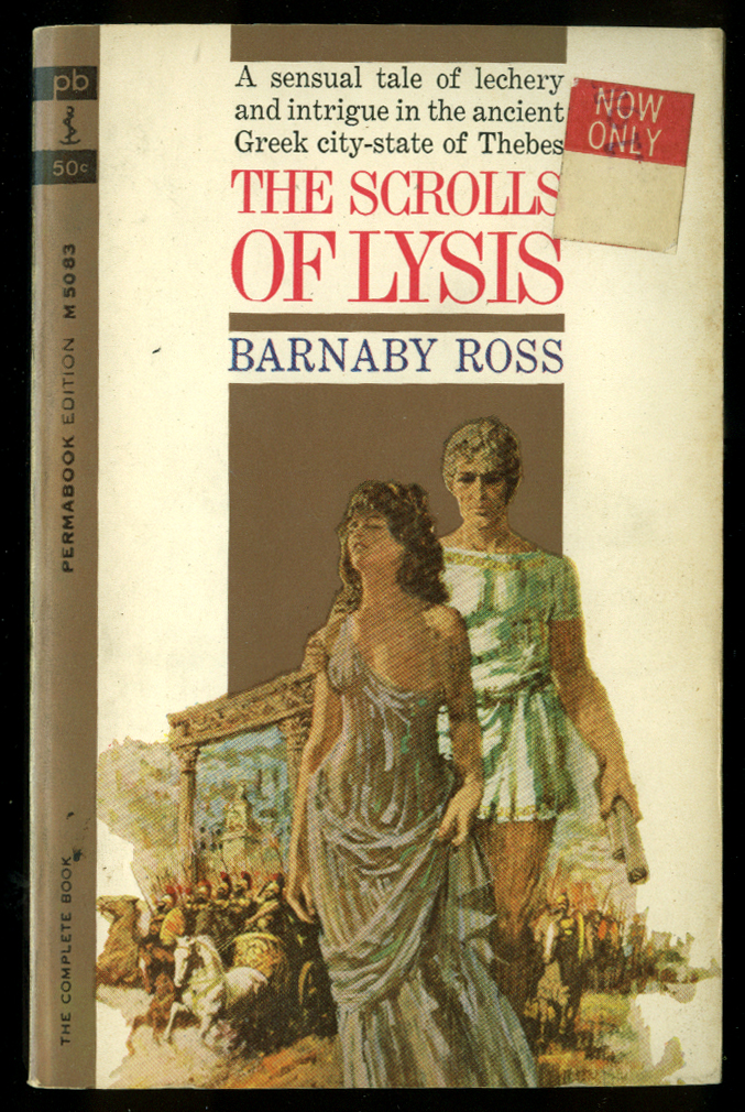Barnaby Ross: The Scrolls of Lysis GGA pb Greek woman 1 bosom showing, chariots