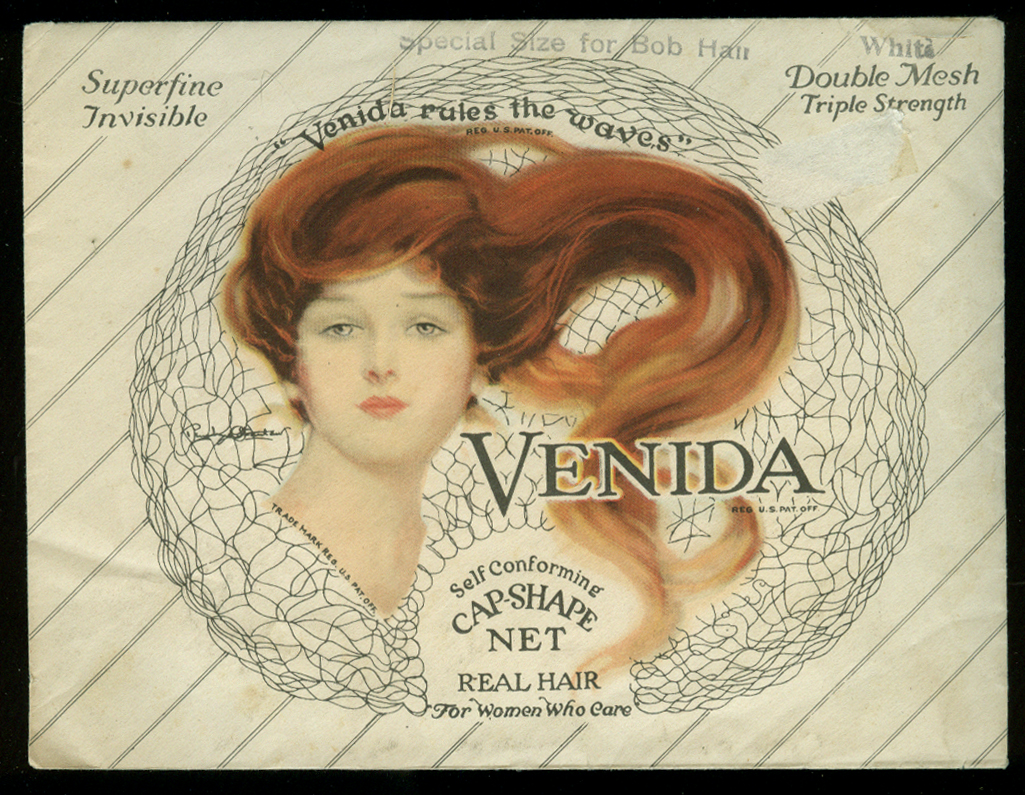 Venida Cap-Shape Hair Net for Bob Hair White ca 1930s
