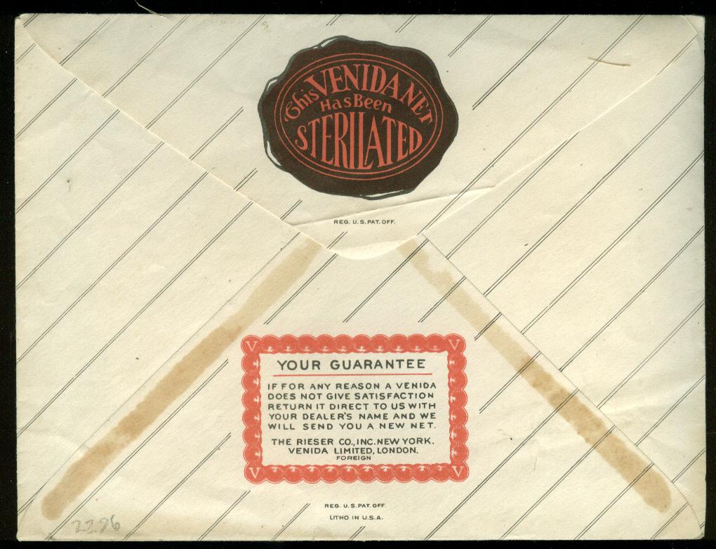 Venida Cap-Shape Hair Net for Bob Hair White ca 1930s