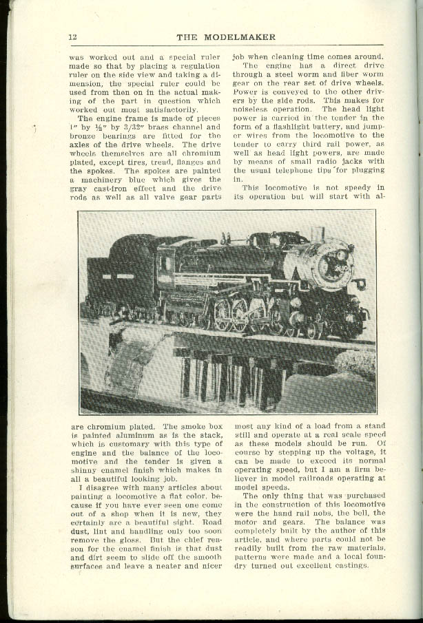 THE MODELMAKER 1 1935: outdoor track; NPRR O-gauge 4-8-4; PRR GG-1 +