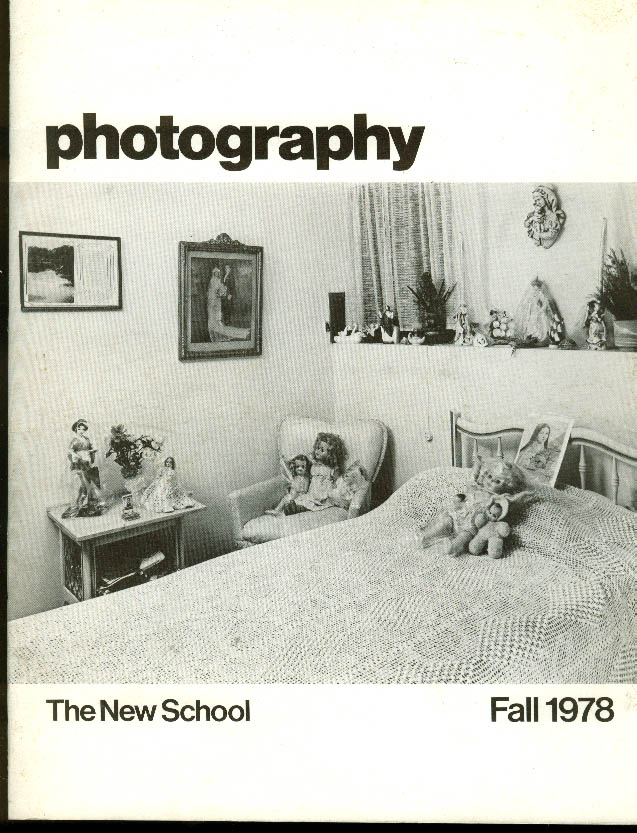 The New School Parsons Dept of Photography catalog Fall 1978