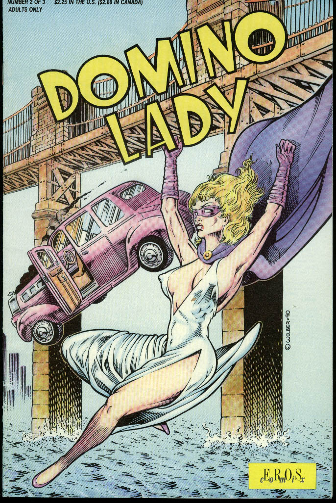 Domino Lady #2 comic book 1 1991 1st printing