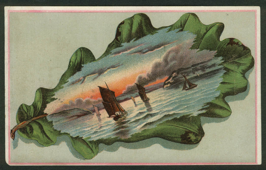 Rich's Furniture Re-Building Sale Baltimore trade card 1880s sailboats