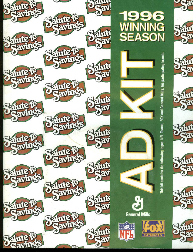 NFL General Mills Fox Sports Winning Season Ad Kit 1996 w/ CD-ROM