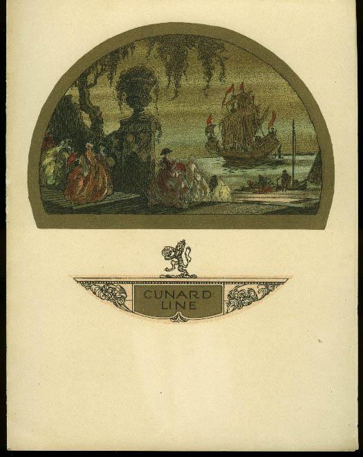 Cunard Line R M S Franconia dinner menu 8/3 1933