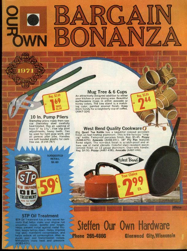Steffen Hardware Bargain Bonanza Glenwood City WI circular bikes guns toys 1971