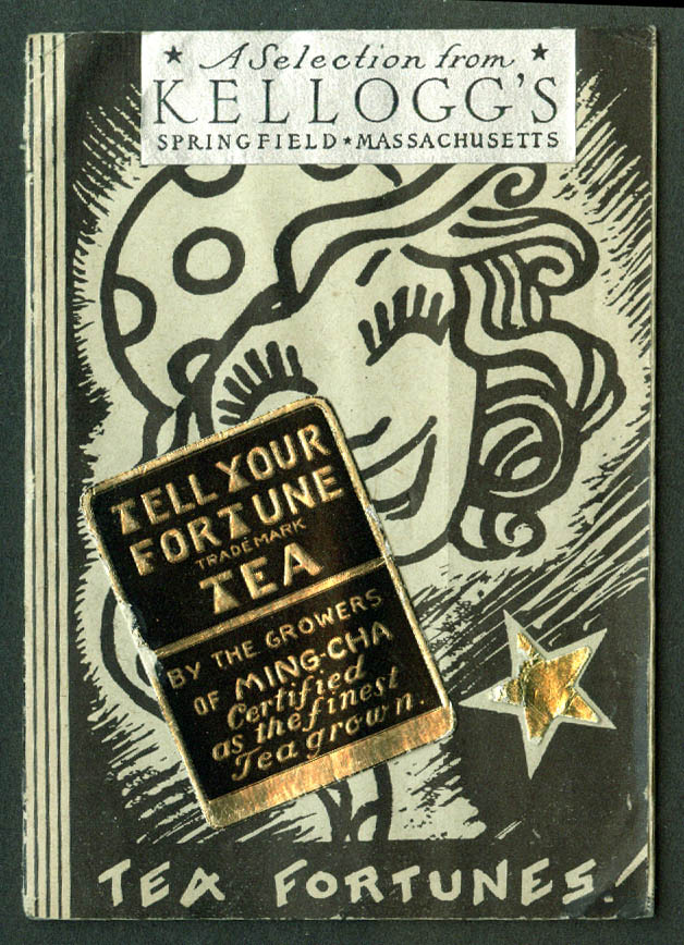Tell Your Fortune with Ming-Cha Tea booklet Kellogg's Springfield MA 1931