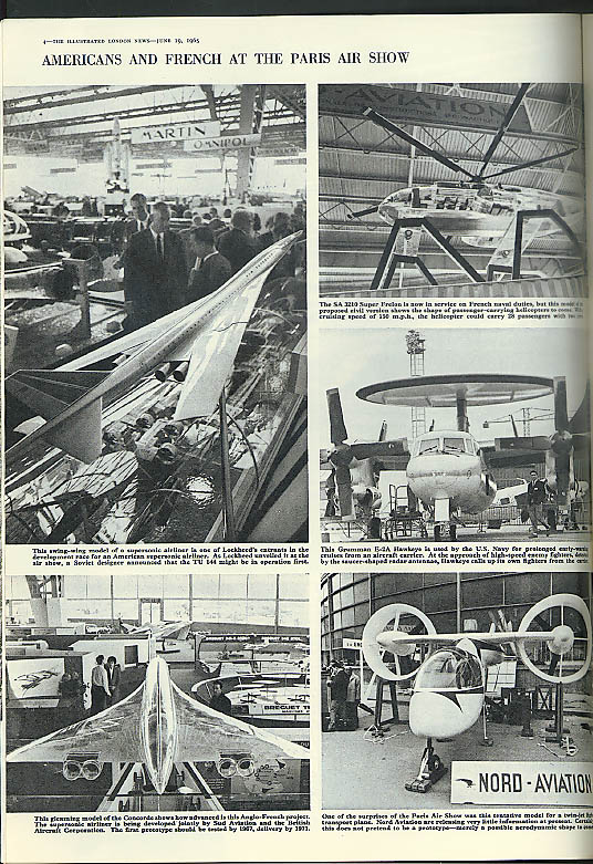 ILLUSTRATED LONDON NEWS Combined Services Antarctica Paris Air Show 6/19 1965