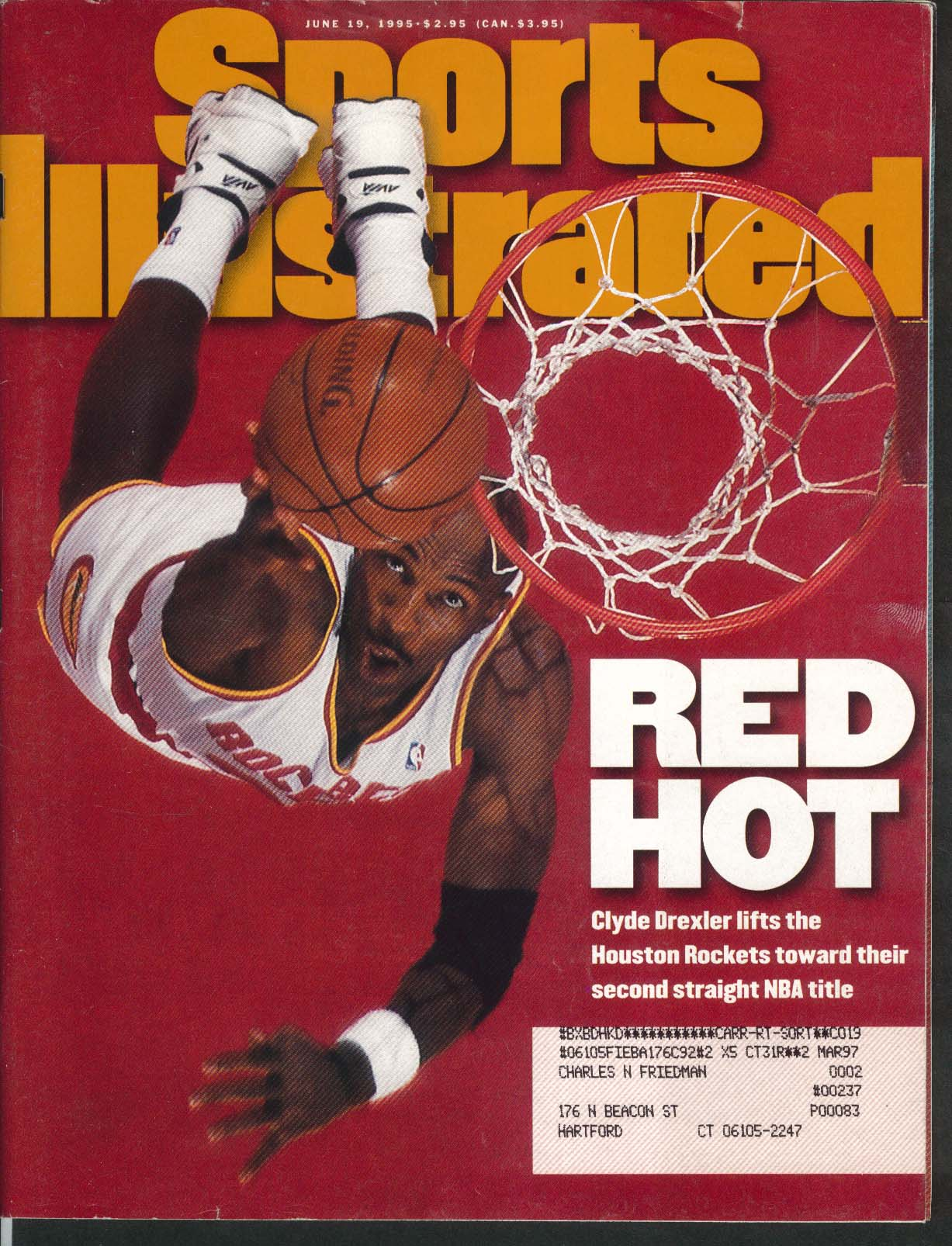 SPORTS ILLUSTRATED Clyde Drexler Steffi Graf Thomas Muster Felipe Alou 6/19 1995