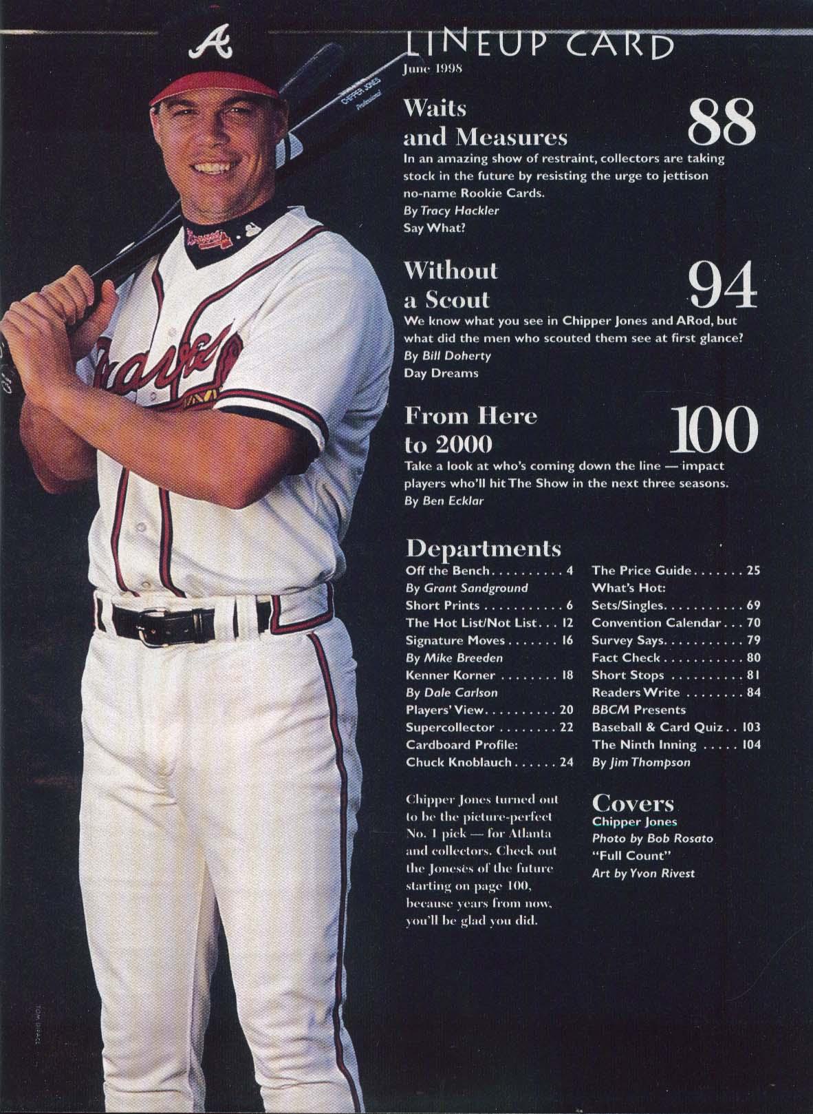 Beckett Baseball Card Monthly Chipper Jones Alex Rodriguez Rookie