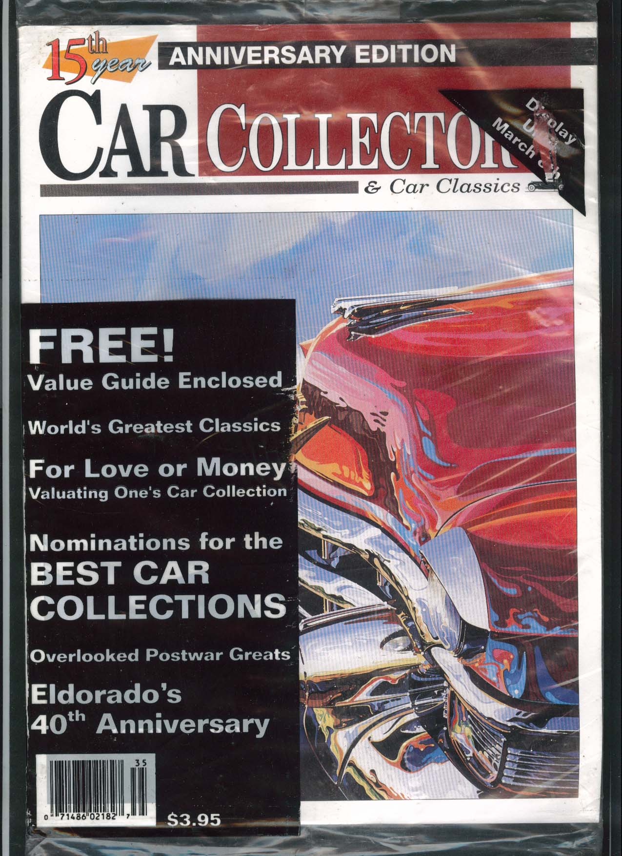 CAR COLLECTOR 15th Anniversary Edition + Cars of Particualr Interest Guide 1992