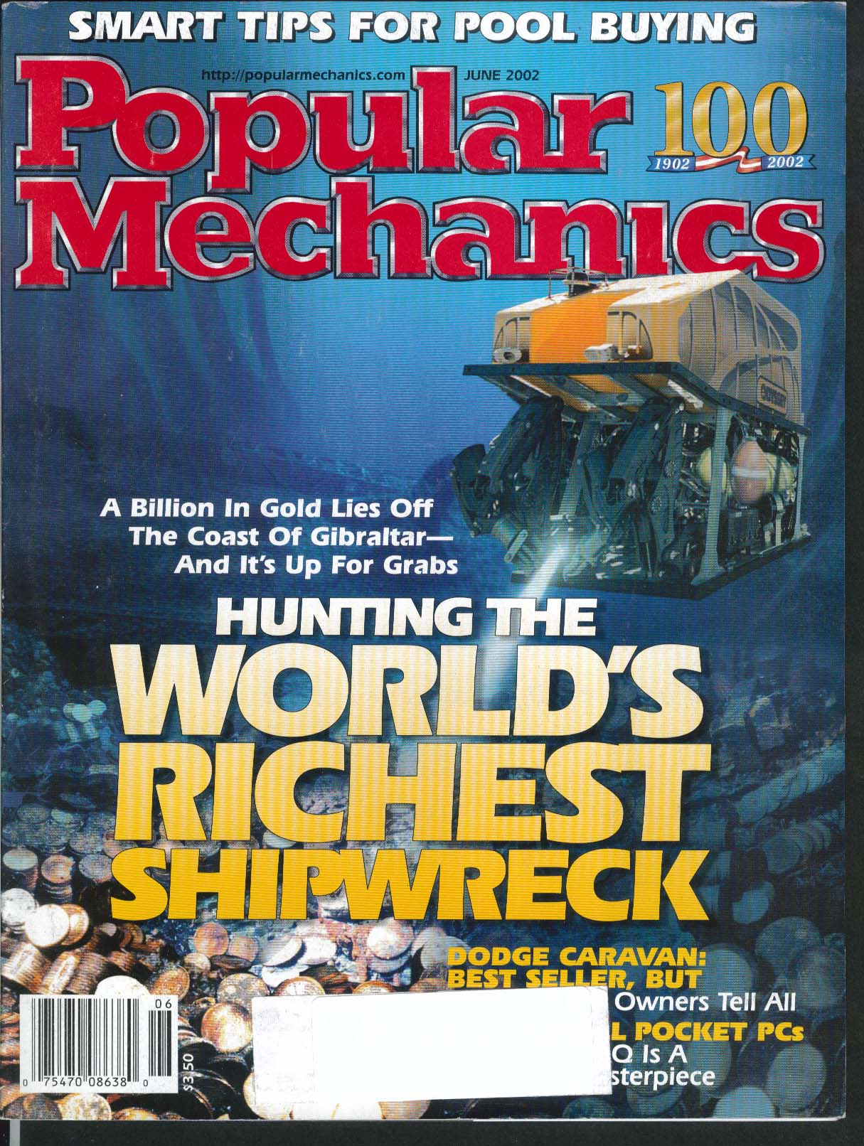 POPULAR MECHANICS Gibraltar Gold Toyota Prius Mini Cooper Dodge Caravan 6 2002