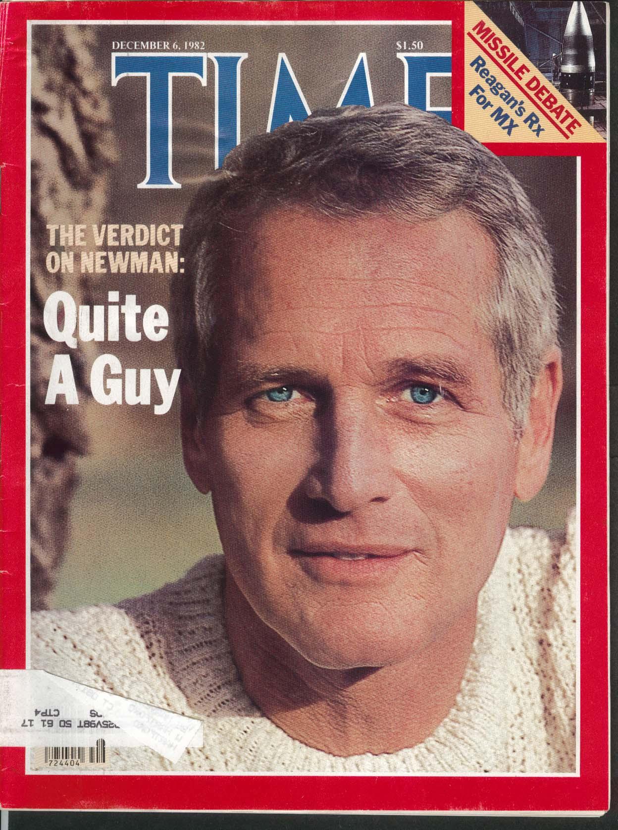 TIME Paul Newman Reagan MX Missiles Andropov Ben Kingsley Gandhi 12/6 1982