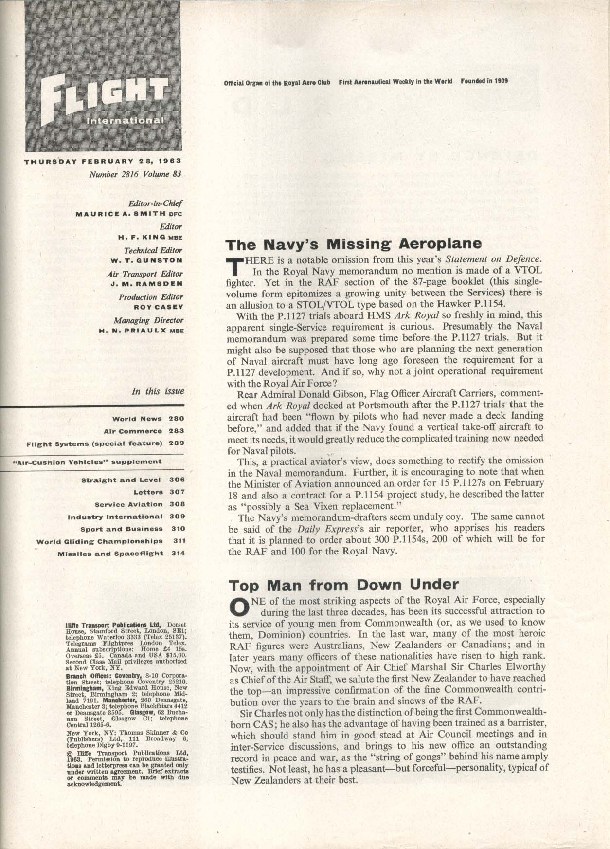 FLIGHT INTERNATIONAL Air-Cushion Vehicles Supplement Flight Systems 2/28 1963