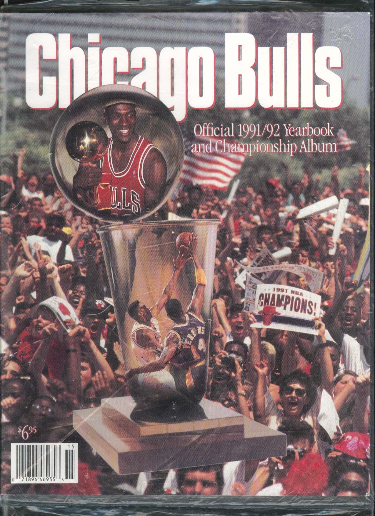 Image for Chicago Bulls Official 1991 - 1992 Yearbook Championship Album Michael Jordan
