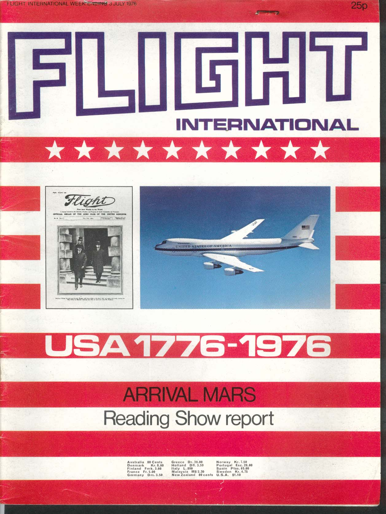 FLIGHT INTERNATIONAL Bicentennial Retrospective Arrival Mars 7/3 1976