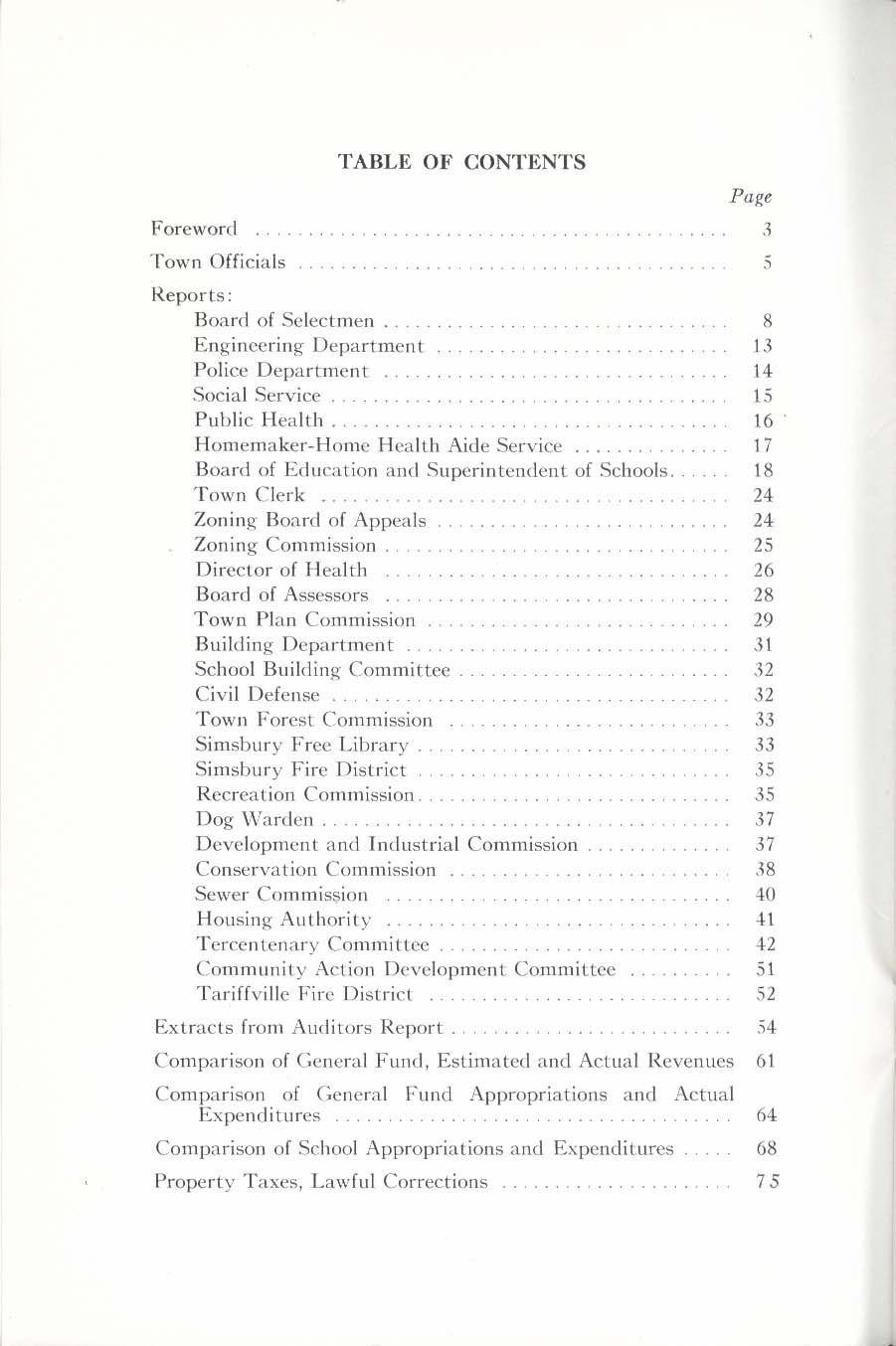 Simsbury Connecticut 109th Annual Report 1970