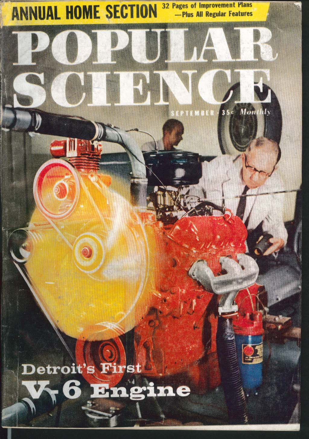 POPULAR SCIENCE Detroit V-6 Engine Cargo Cruiser Turbofan Rumpus Room 9 1959
