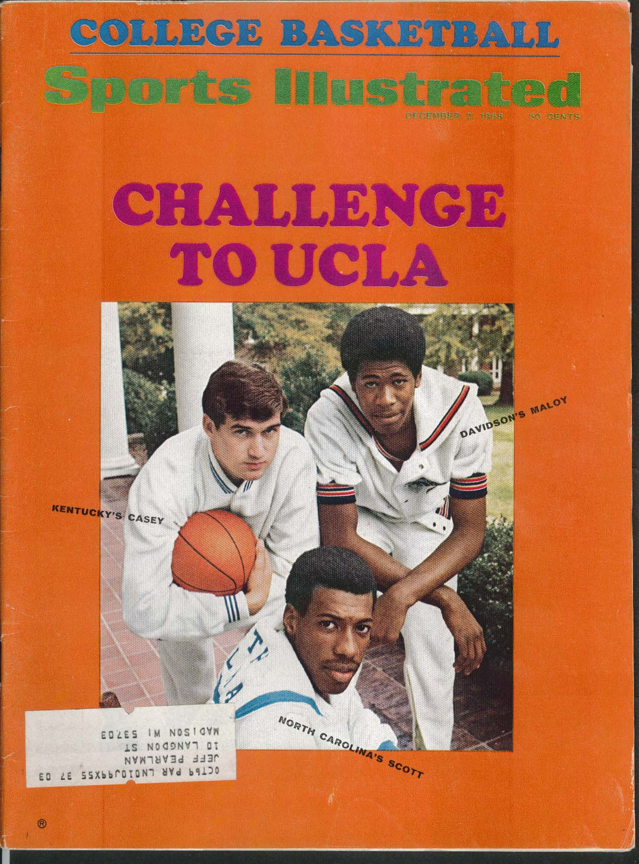 SPORTS ILLUSTRATED Lew Alcindor Casey Maloy Scott O J Simpson 12/2 1968