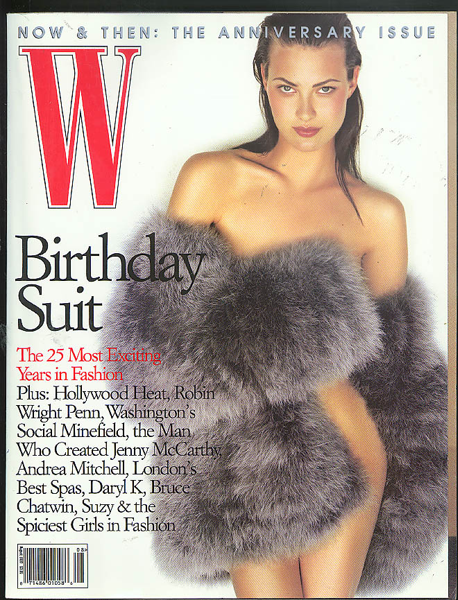 Image for W Anniversary Issue Robin Wright Penn Jenny McCarthy Bruce Chatwin + 8 1997