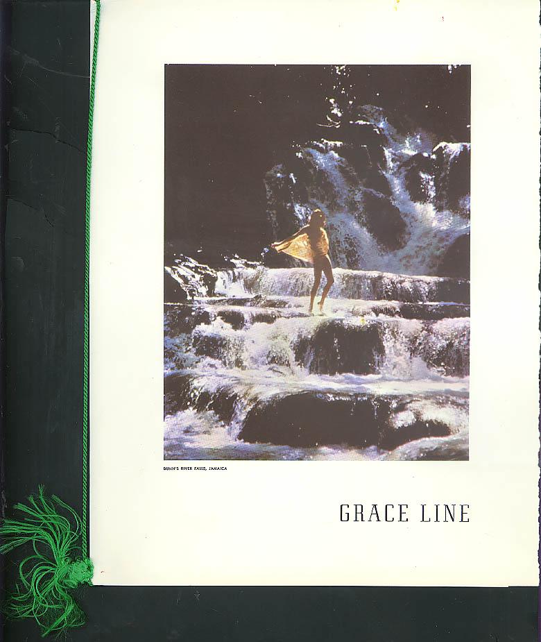 Grace Line S S Santa Paula Get-Together Dinner Menu 12/21 1968 Dun's River Falls