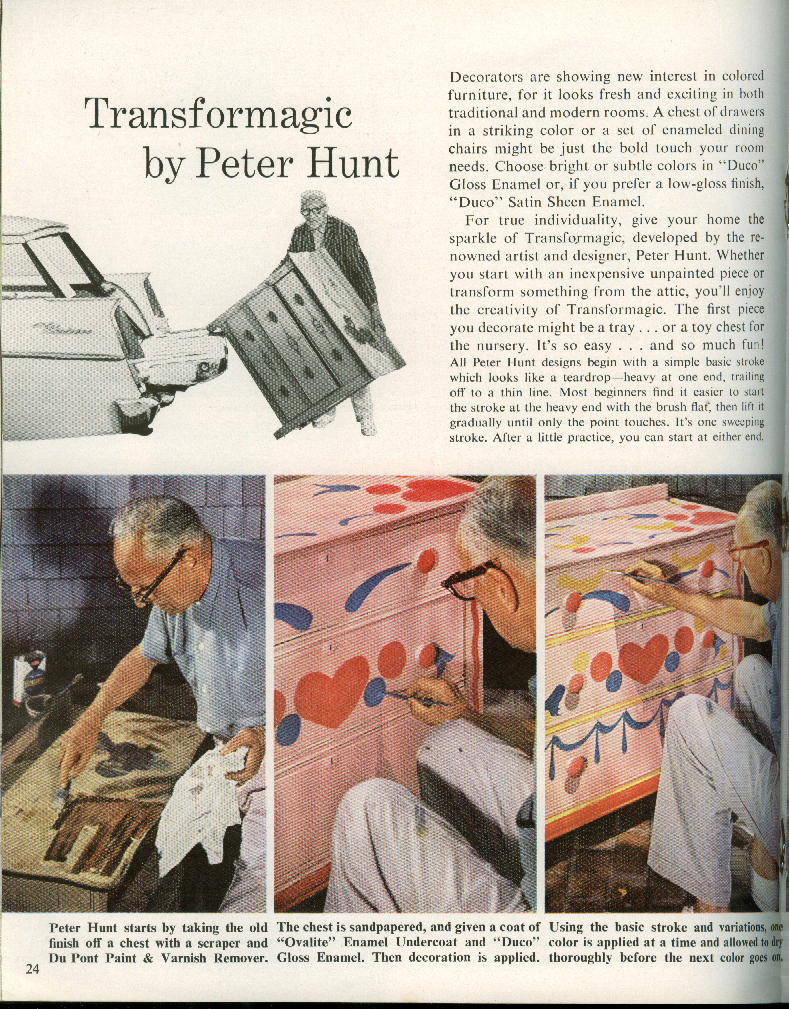 Du Pont Home Painting & Color Guide 1960 indoor & outdoor painting tips