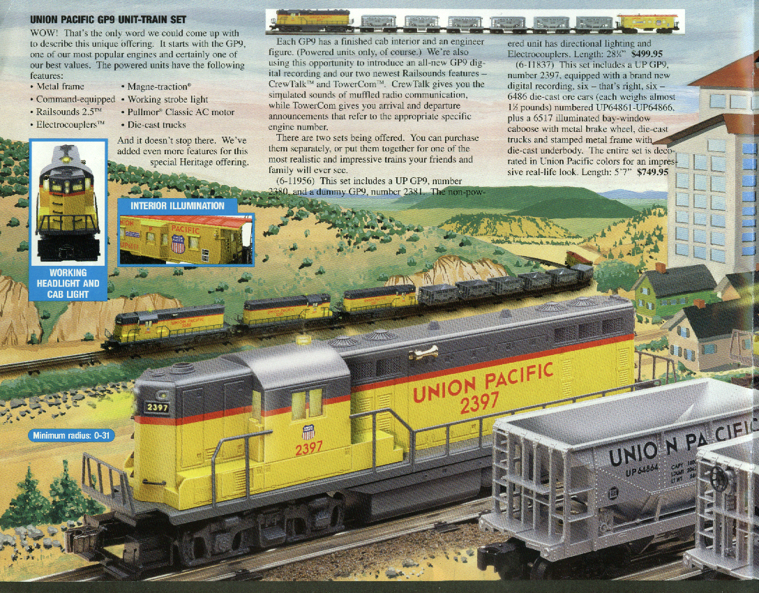 Lionel Legendary Heritage Electric Trains Catalog Fall 1997