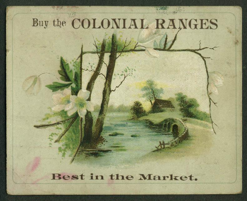 Buy Colonial Ranges Best in the Market trade card 1880s Guy & Fuller Meriden CT