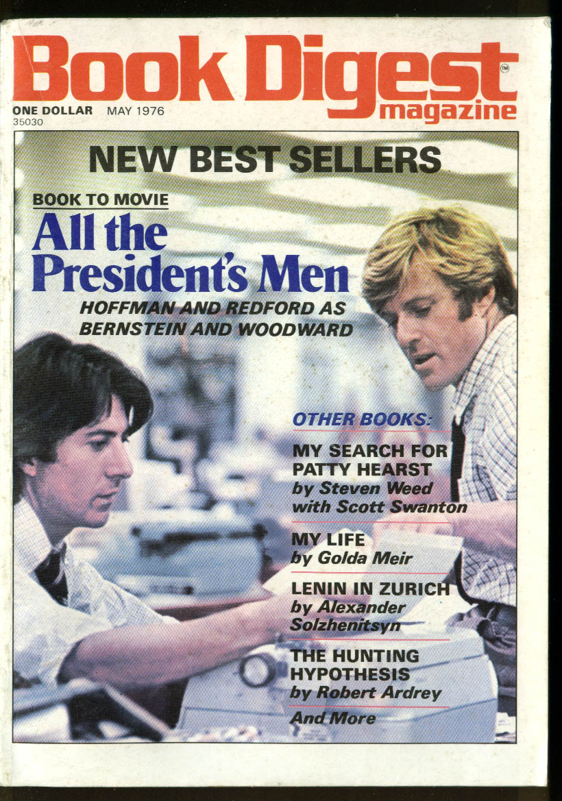 BOOK DIGEST Book to Movie All the President's Men; Patty Hearst Golda 5 1976