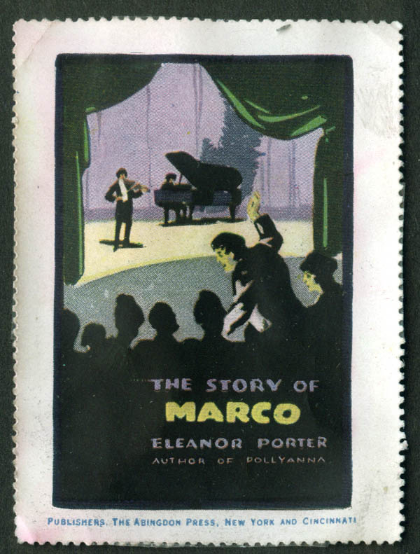 The Story of Marco by Eleanor Porter Abingdon Press cinderella stamp 1911