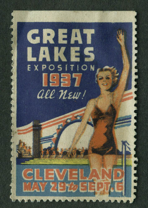 Great Lakes Exposition Cleveland 1937 all new! cinderella stamp