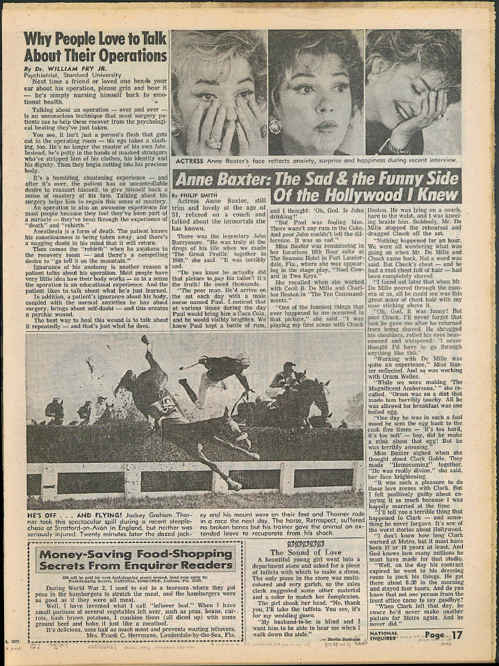 NATIONAL ENQUIRER 4/8 1975: Jackie & Christina O; Connery; Peter Sellers; Rooney