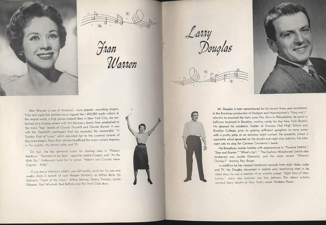 Betty O'Neil Larry Douglas The Pajama Game program Boston 1950s