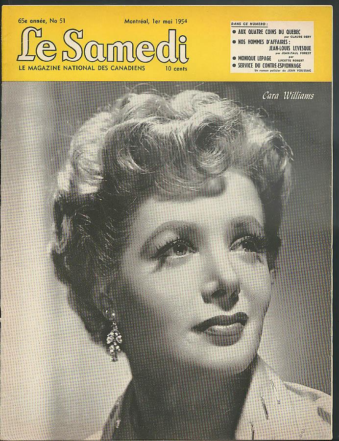 LE SAMEDI 5/1 1954: Cara Williams; Jean-Louis Levesque; Monique Lepage